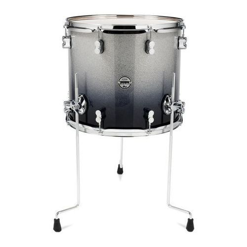 Pdp (pd806288) floor tom silver to black sparkle fade