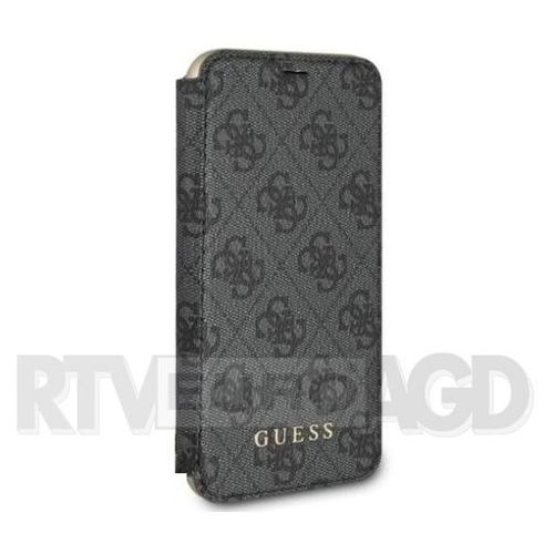 GUESS Etui book GUFLBKPXGF4GGR iPhone X szary 4G Charms Collection, kolor szary