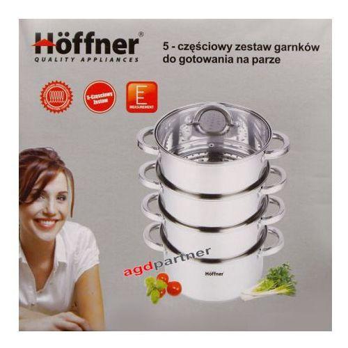 GARNKI HOFFNER DO GOTOWANIA NA PARZE 8.5L 5 ELE 18CM [HF-9189] - produkt z kategorii- garnki