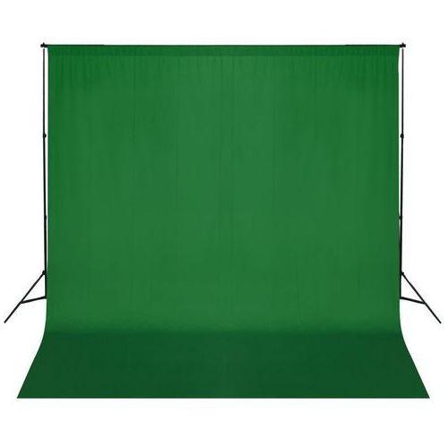 vidaXL Zestaw do zawieszenia wraz tłem fotograficznym. Zielony (8718475820819)