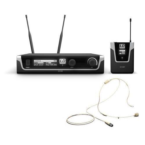 u518 bphh mikrofon bezprzewodowy nagłowny, kolor beżowy marki Ld systems