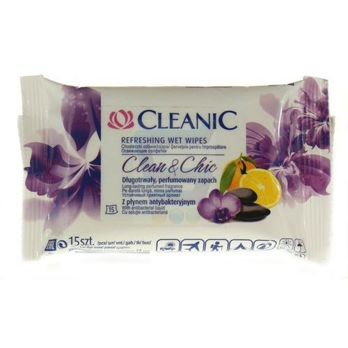 CLEANIC 15szt Clean & Chic Chusteczki odświeżające