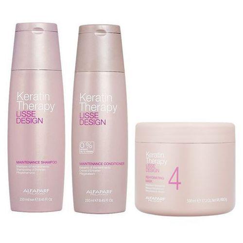 keratin therapy maintenance | zestaw podtrzymujący efekt wygładzenia: szampon 250ml + odżywka 250ml + maska 500ml marki Alfaparf