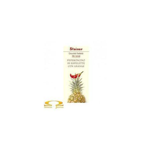 Czekolada 70% z papryczką chilli i ananasem marki Stainer