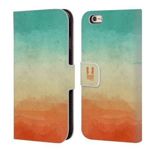 Etui portfel na telefon - Watercoloured Ombre Teal And Orange, kolor pomarańczowy