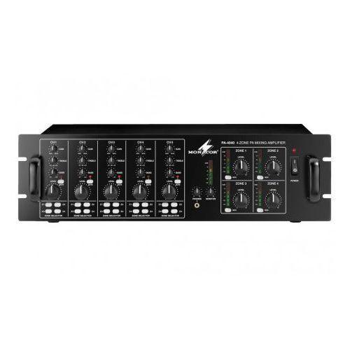 Wzmacniacz radiowęzłowy 100V PA-4040 4x40W 4-strefowy