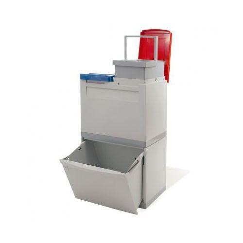 Zestaw koszy na segregowane odpady EKOMODUL, 1x30 + 2x15 l