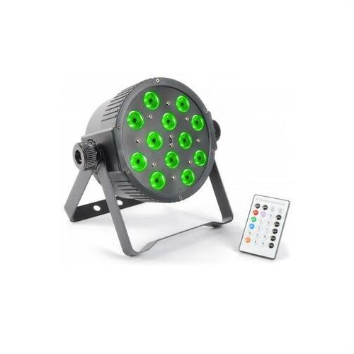 Beamz flatpar 12x 3w tri-color led dmx ir z pilotem (8715693271782)