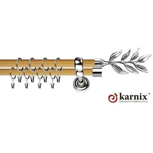 Karnisz Metalowy Prestige podwójny 19/19mm Aldis INOX - pinia ze sklepu ikarnisze.pl - Home&Design