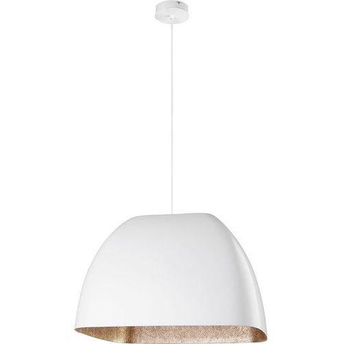 Sigma Lampa wisząca alwa l biała złota do kuchni (5902335262731)