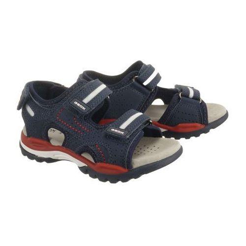 GEOX J920RD J BOREALIS BOY 000CE C0735 navy/red, sandały dziecięce, rozmiary:26-27, kolor niebieski