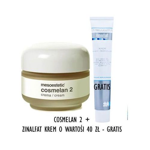 Mesoestetic - Cosmelan 2 Cream + Zinalfat Cream - Cosmelan krem na przebarwienia + Krem kojąco regenerujący GRATIS! - 30 ml+ 50 ml - DOSTAWA GRATIS! z kategorii kosmetyki do twarzy