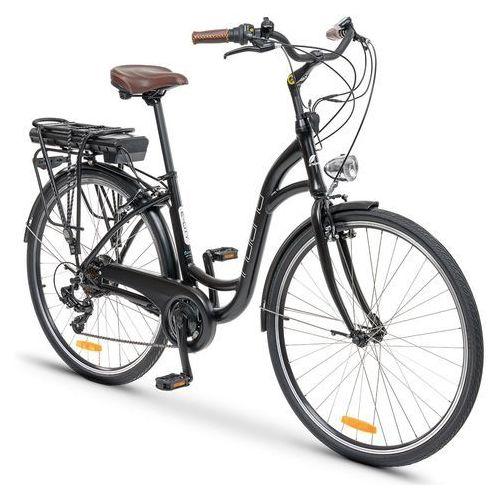 Rower elektryczny INDIANA E-City D17 Czarny + Zamów z DOSTAWĄ JUTRO! (5903317860266)