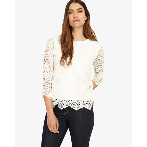 Phase Eight 3/4 Sleeve Tessa Lace Top, elastan