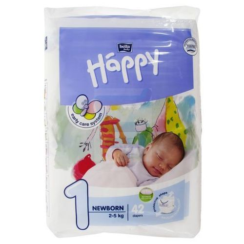 Pieluszki happy newborn 6x42 szt. + 50% taniej oilatum żel 2w1 300ml marki Tzmo s.a.