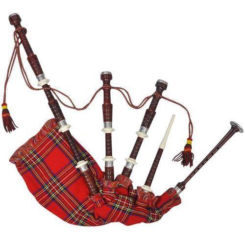 vidaXL Szkockie dudy z czerwonym, królewskim tartanem Steward (8718475951261)