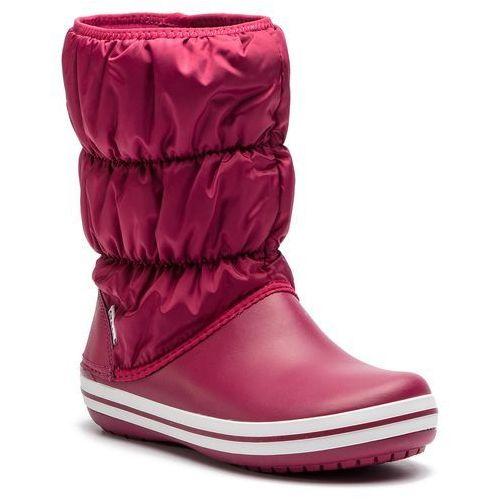 Śniegowce - winter puff boot 14614 pomegranate/white, Crocs, 36.5-41.5