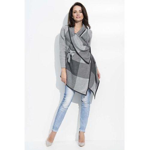 4c8d3143c47fad Grafitowo szary sweter narzutka z graficznym wzorem marki Makadamia 122,90  zł Material: akryl 100%.Dostepne wymiary: Uniwersalny.warianty  kolorystyczne: ...