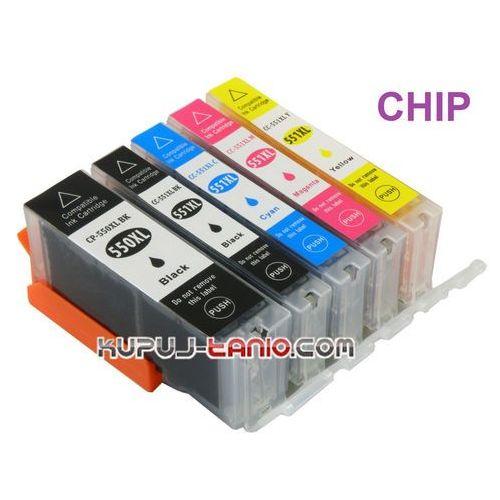 Bt .pgi-550pgbk xl - cli-551 xl tusze canon (5 szt z chipami, ) do canon ip7250, mg5450, mg5550, mg5650, mg6350, mg7150, mg7550