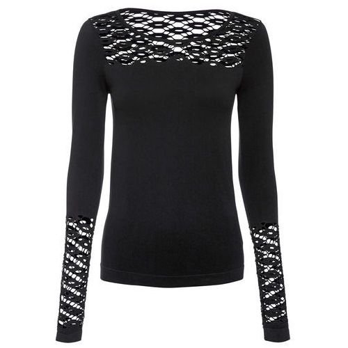 Shirt beżowo-czarny, Bonprix, 32-42