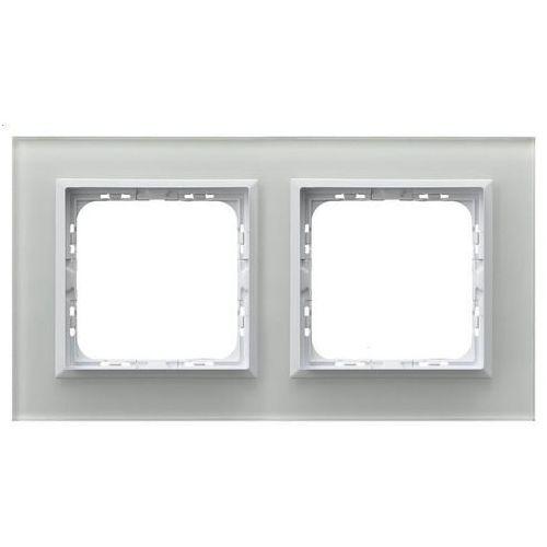 OSPEL SONATA R-2RGC/31/00 Ramka podwójna BIAŁY Białe szkło, grubość 4mm, R-2RGC/31/00