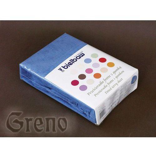 Prześcieradło frotte z gumką Bielbaw Greno 70x140 niebieskie ze sklepu Pieluchowo.com