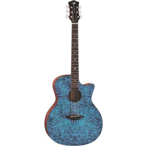 Luna gypsy exotic quilted ash trans blue gitara akustyczna (0190839134882)