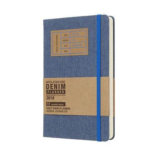 Kalendarz Moleskine 2019 Dzienny, L, DENIM niebieski edycja limitowana
