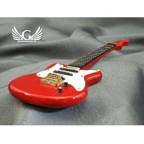 Grawernia.pl - grawerowanie i wycinanie laserem Mini gitara elektryczna z futerałem - czerwona - model mgt5
