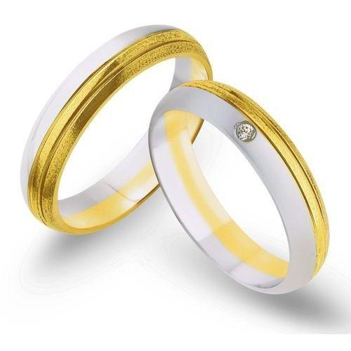 Obrączki z żółtego i białego złota 4mm - O2K/051 - produkt dostępny w Świat Złota