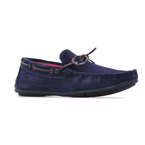 Mokasyny Venezia 10201 SUE NAV Granatowe zamsz, kolor niebieski