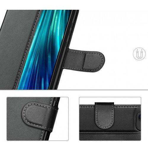 Wozinsky Wallet Case kabura etui portfel pokrowiec z klapką Xiaomi Redmi Note 8 Pro czarny, kolor czarny
