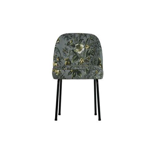Be Pure Krzesło do jadalni Vogue szare z motywem kwiatowym 800816-85 (8714713078318)