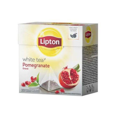 LIPTON 20x2g Owoce granatu herbata biała ekspresowa Piramidki   DARMOWA DOSTAWA OD 150 ZŁ!