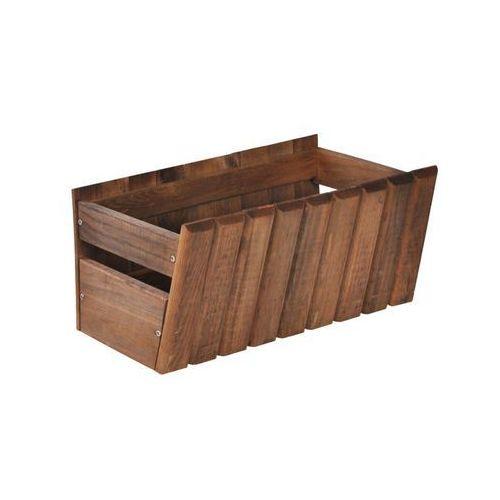 Sobex Donica / skrzynka balkonowa 40 x 20 cm drewniana brązowa stokrotka