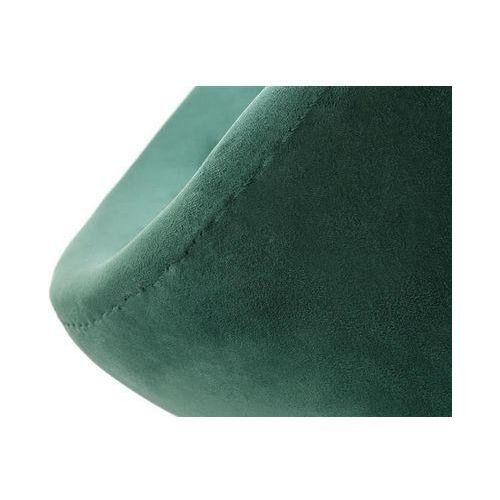 Fotel SWAN VELVET PREMIUM BLACK ciemny zielony - welur, podstawa czarna (5900000048628)