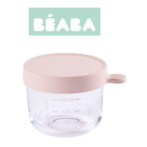 Beaba pojemnik słoiczek szklany z hermetycznym zamknięciem 150 ml pink