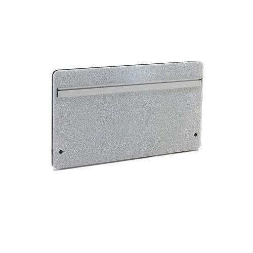 Wzmocniona ścianka biurkowa Zip z funkcjonalną szyną 1200x650 mm jasnosza