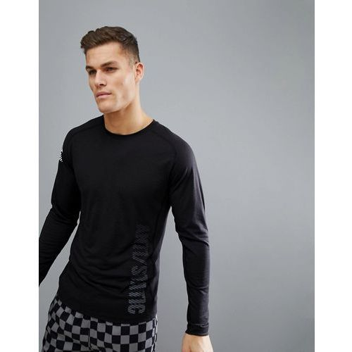 Jack & Jones Core Long Sleeve Top With Graphic Text - Black, w 2 rozmiarach