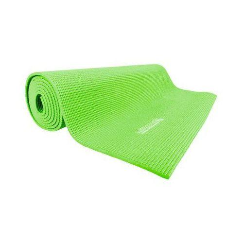 Insportline Mata do ćwiczeń jogi yoga 173x60x0,5 cm - kolor odblaskowy zielony (8596084010308)