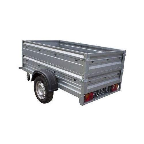 Unitrailer Przyczepa samochodowa 200 x 106 lekka z dodatkowymi burtami dmc 750 kg garden trailer 200