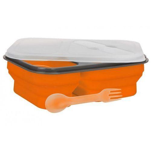 Lunch box mpm sls-1 silikonowy 300 ml i 600 ml pomarańczowy + zamów z dostawą jutro! marki Smile