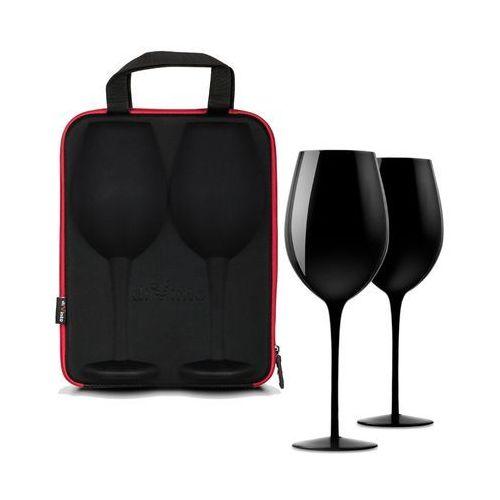 Kieliszek na wino x 2 w etui diVinto Black, GADC2332