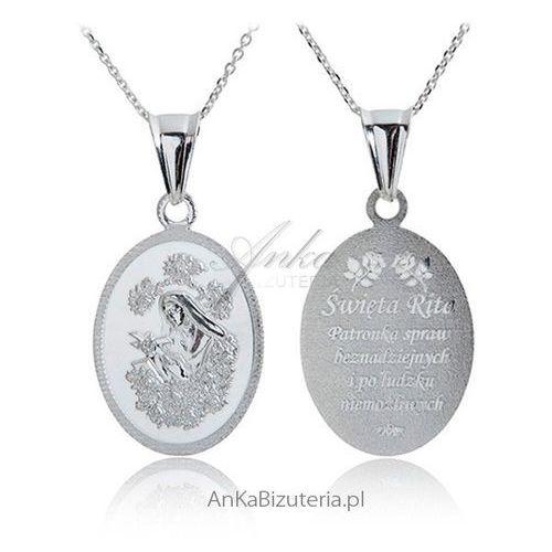 Anka biżuteria Medalik srebrny św. rita patronka spraw beznadziejnych