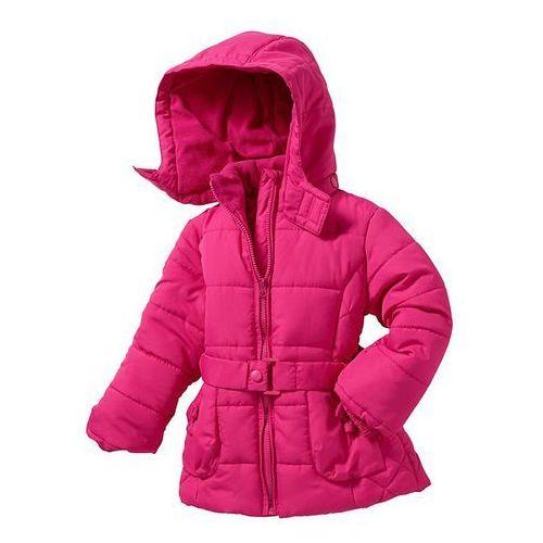 Długa kurtka watowana bonprix ciemnoróżowy - produkt z kategorii- kurtki dla dzieci