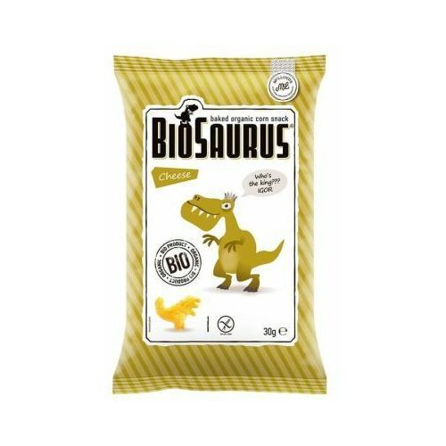 Chrupki kukurydziane dinozaury o smaku serowym bezglutenowe bio 30 g marki Cibi