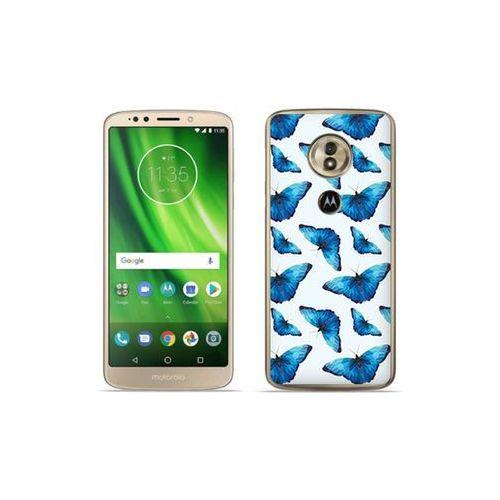etuo Fantastic Case - Motorola Moto G6 Play - etui na telefon Fantastic Case - niebieskie motyle, kolor niebieski