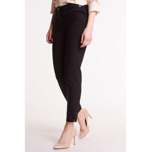 b64258bbf45889 Czarne spodnie materiałowe, kolor czarny 249,00 zł stylowe spodnie  materiałowe w klasycznym i jednocześnie bardzo uniwersalnym czarnym kolorze.