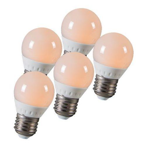 Zestaw 5 żarówek LED kulka E27 3W 250 lumenów ok. 25W, marki Calex do zakupu w lampyiswiatlo.pl