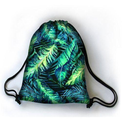 Designerski plecak worek zielona dżungla - czarny ||niebieski ||szary ||zielony ||turkusowy marki Bertoni